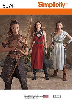 Simplicity 8074  Rogue One GOT  Rey Costume Pattern 6 8 10 12 14 KATNISS - Rogue Costume Pattern