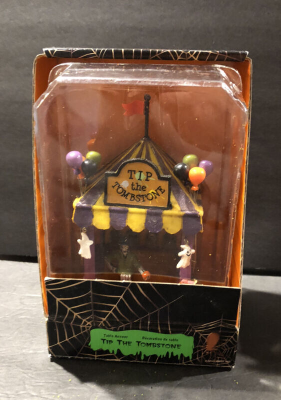 """LEMAX 2010 HALLOWEEN SPOOKY TOWN COLLECTION """"TIP THE TOMBSTONE"""" CARNIVAL"""