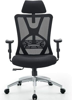 Ticova Ergonomic Office Chair - High Back Desk Chair With Adjustable Lumbar Supp