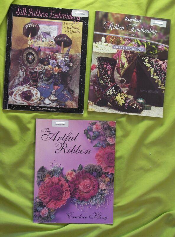 3 BK Artful Beauty Bloom Kaplan Silk Ribbon Embroidery Guide II Crazy Technique