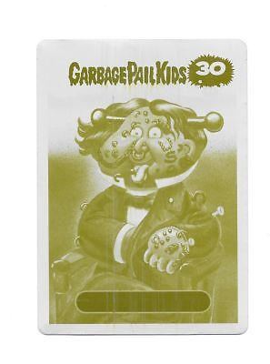 Garbage Pail Kids 2015 30th Anniv - Printing Plate, Yellow, 1/1 Franklin Pierced