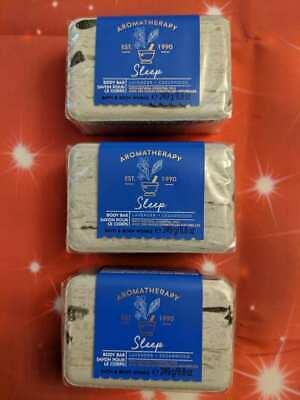 3 Bath & Body Works Aromatherapy SLEEP Lavender Cedarwood Body Soap Bar (3 Bath Bar)