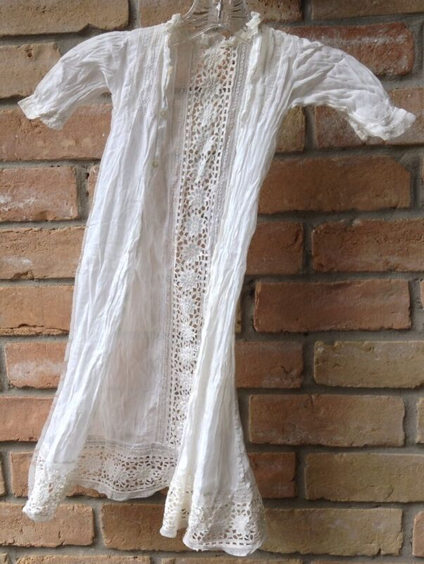 Antique Christening Gown Size Unknown DAMAGED As-Is