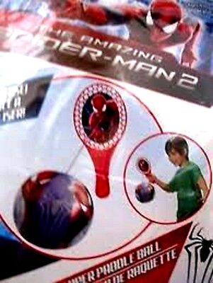 Marvel Comics Spider-Man Spiderman Super Paddle Ball with 5