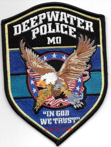 "Deepwater, Missouri  ""In God We Trust""  (4"" x 5.5"") shoulder police patch (fire)"