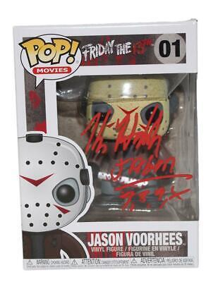Kane Hodder Autographed/Signed Jason Voorhess #1 Funko Pop