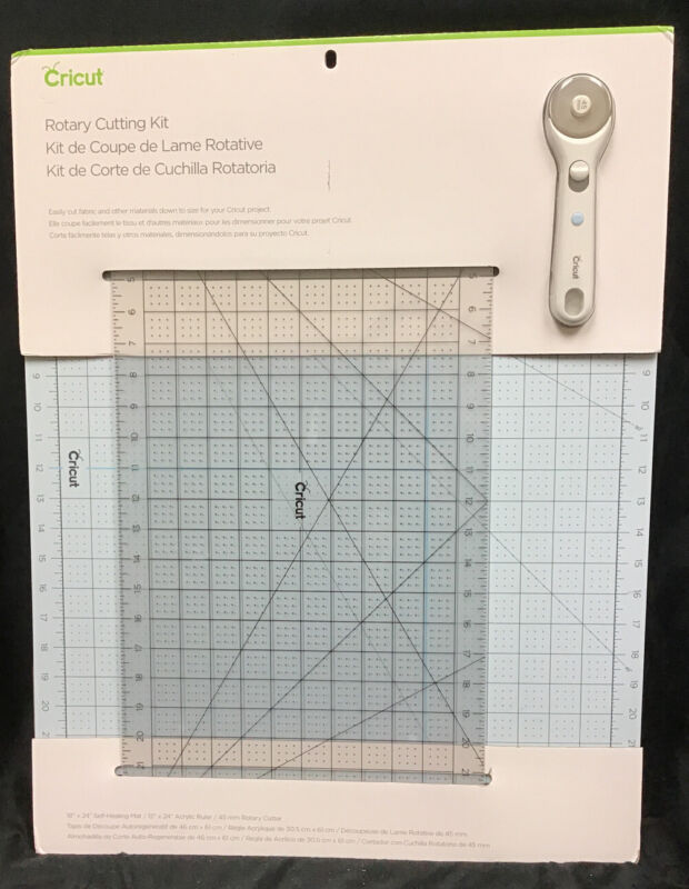New Cricut Rotary Cutting Kit, Comes With Mat And Rolling Cutter For Projects