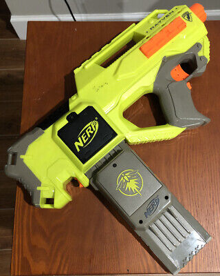 Nerf Rayven CS-18 GlowStrike Motorized Blaster Gun w Firefly Clip Tested Works