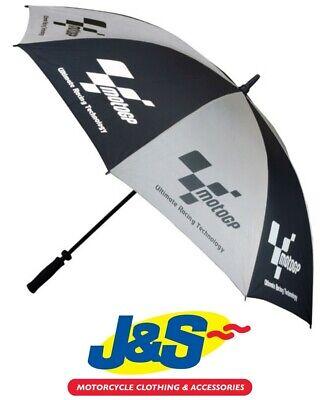 Moto GP Official Umbrella Black Silver Motorcycle Motorbike Rain Racing Race J&S
