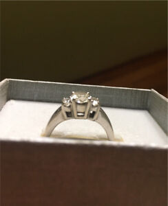 14kt. White gold diamond engagement ring  - willing to trade