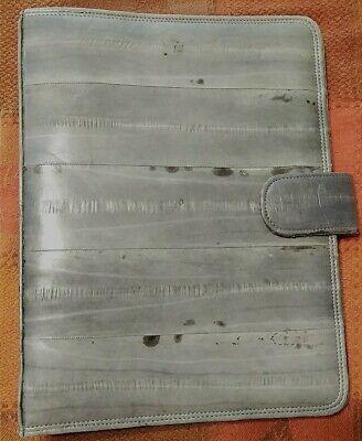 Vintage Eel Skin 9 Small 3 Ring Binder Planner Gray