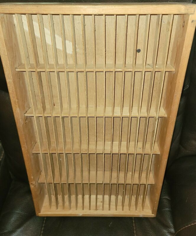 Napa Valley 80 Cassette Tape Storage Unit Wooden Box Wall Shelf Case Holder
