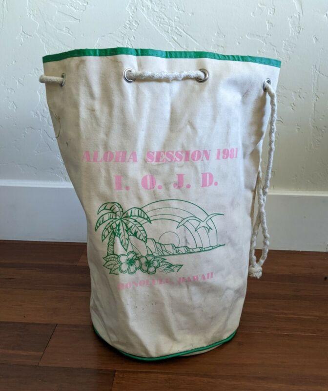 Vintage Ditty Bag Aloha Session 1981 IOJD Honolulu Hawaii Job