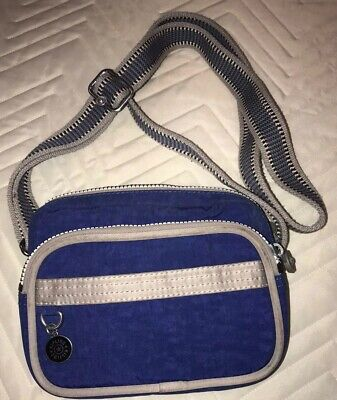 Kipling Small (mini)  Crossbody Nylon Purse, Royal Blue. EUC