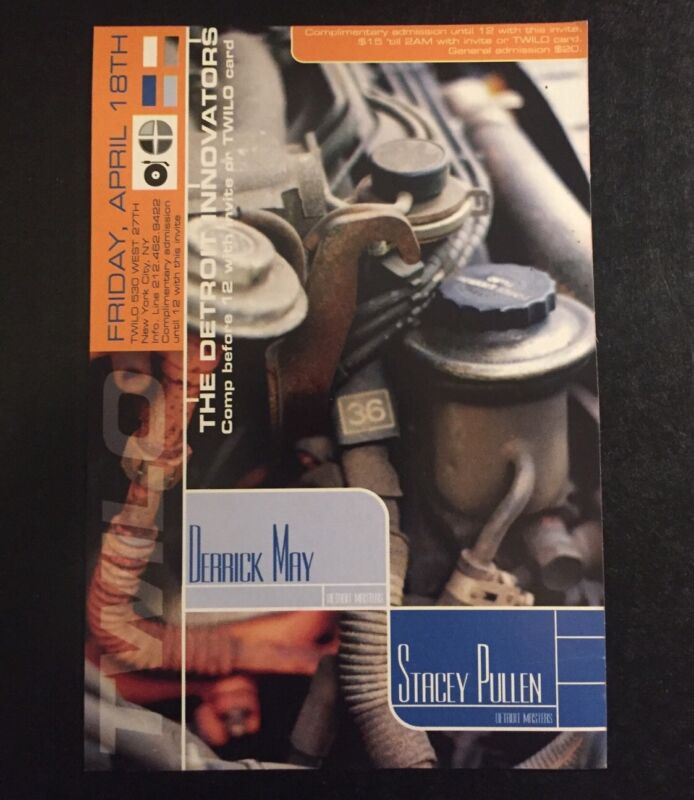 Rare Vintage 1990s NYC Club Flyer: DERRICK MAY & STACEY PULLEN @ TWILO NYC