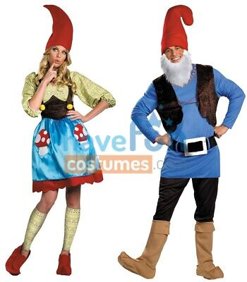 Couples Adult Gnome Costumes Mens Womens Husband Wife Funny Halloween