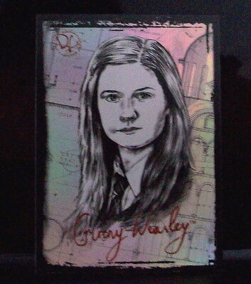 HARRY POTTER MEMORABLE MOMENTS 2-GINNY WEASLEY FOIL CARD PZ8 BONNIE WRIGHT on Rummage