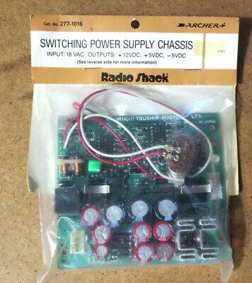 Radio Shack 277-1016 Switching Power Supply Chassis 18 Vac 12 Vdc