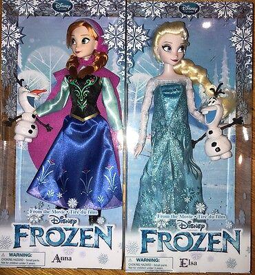 Disney Store Anna And Elsa Classic Dolls 12 Frozen