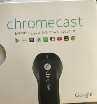 Google Chromecast (1st Generation) HDMI Media Streamer - Black (H2G2-42)