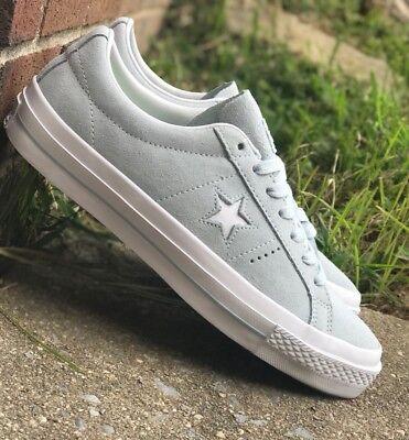 Converse One Star OX Suede Men Skate Lo Top Blue/White 153963C Sz 11 w Lunarlon