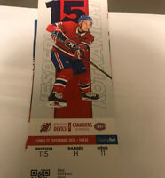 Montreal Canadiens Vs New Jersey Devils September 17