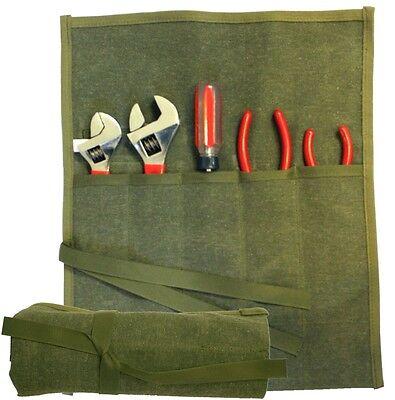 5 Pocket Nylon Tool Roll Wrap by Paktek  ToolPak NSN#5140-01-167-1541 Made in US - Nylon Roll Tool