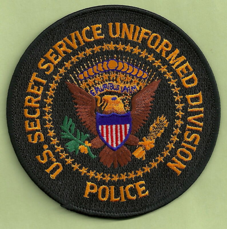 US SECRET SERVICE UNIFORM DIVISION POLICE SHOULDER PATCH BLACK