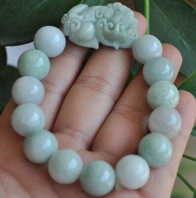 Jade Pendant Bracelet - Certified 100% Natural A Jade jadeite pendant~Brave troops Bracelet(手链)