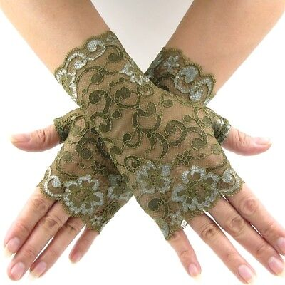 ITZEN HANDSCHUHE GOTHIC FESTIVAL COSPLAY LOLITA PUNK br (Spitzen Handschuhe)