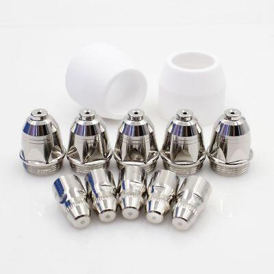 12pcs P80 Plasma Cutter Electrode Tips 1.3mm Shield For Lotos Ltp7000 Ltp8000