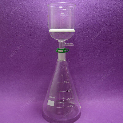 2000ml Filtration Seterlenmeyer Flaskfilter Funnel3lab Filter Set