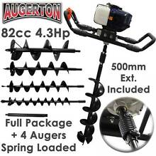 AUGERTON PETROL POST HOLE DIGGER EARTH AUGER ONE / TWO MAN POSTHO Brunswick Moreland Area Preview