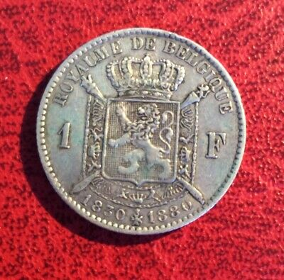 Belgique - Léopold II - Très Jolie  1 Franc  1880   - Cinquantenaire