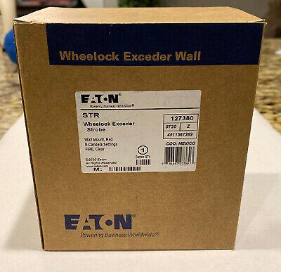 Eaton Str 127380 Wheelock Exceder Strobe Wall Mount Red 8 Candela Settings Fire