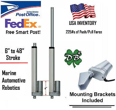 Electric Linear Actuator 12v 24v Dc Motor 6- 40 Stroke Auto Marine Robotics