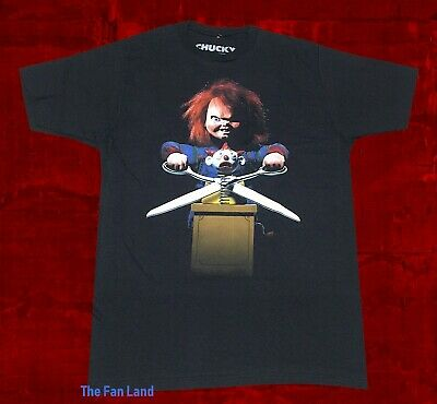 Play Halloween (New Chucky Child's Play Men's 1998 Black Halloween Vintage Retro)