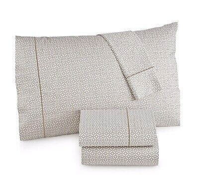 HOTEL COLLECTION 525TC FULL 4 PIECE SHEET SET PRINTED CHAMPAGNE NIOP MSRP $235 Sheet Set Champagne