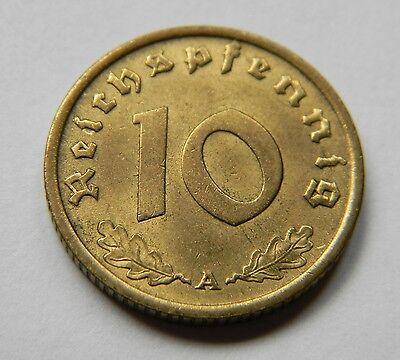 DRITTES REICH: 10 Reichspfennig 1939 A, J. 364, fast stempelglanz !!!