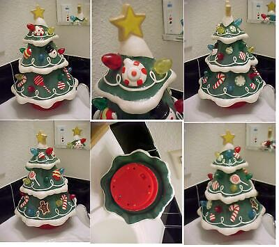 HALLMARK GUMDROP CHRISTMAS TREE LIGHTS SPINS MUSIC ORNAMENTS BEAUTIFUL CERAMIC