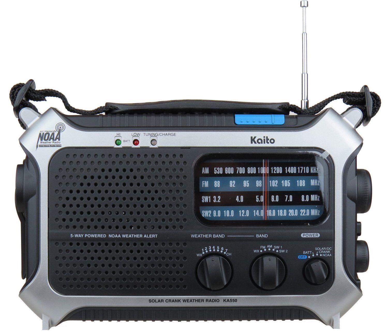Kaito KA550 Portable Solar Hand Crank AM FM Shortwave & NOAA