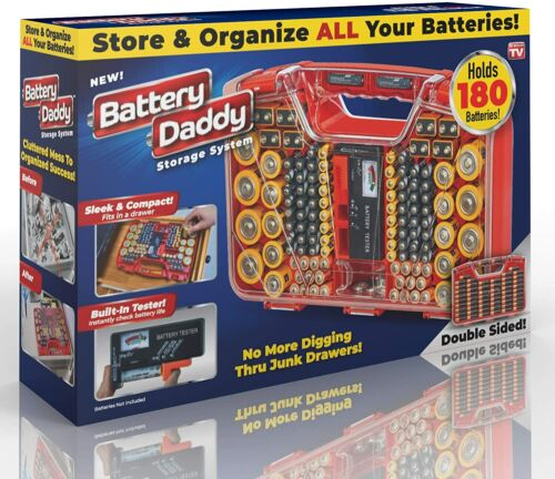 Battery Daddy Battery Organizer and Battery Storage System Case with Tester