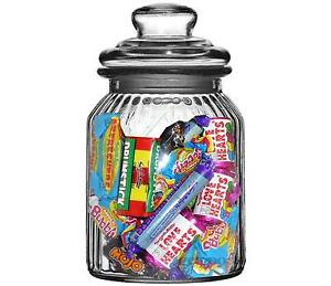 Glass Jars Of Old Fashioned Sweets