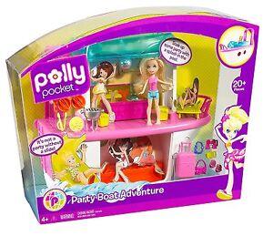 Mattel T7098 Polly Pocket Abenteuer Party-Boot  , NEU,OVP