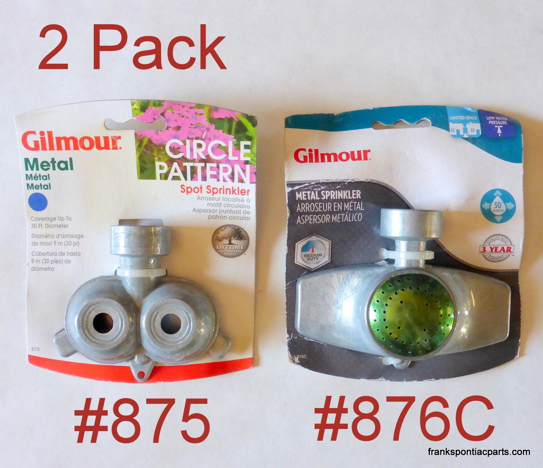 2 NEW Gilmour Metal Lawn Sprinklers #875 dual 30' & #976C si