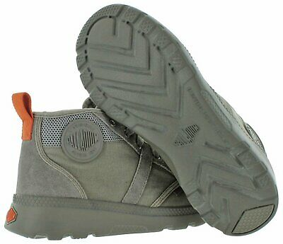 NIB Palladium Pallaville Hi CMS Men's Athletic Sneakers Turbulence/Burnt Orange
