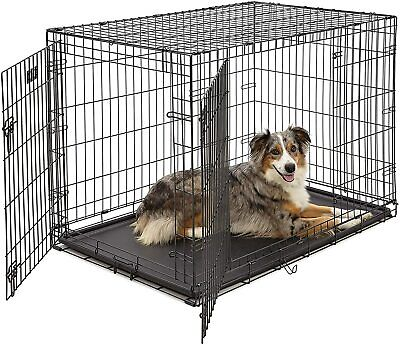 MidWest Homes for Pets Dog Crate Double Door Folding Metal