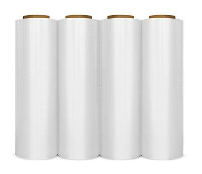 "18"" x 1500' 4 Rolls Pallet Wrap Stretch Film Hand Shrink Wrap 1500FT"