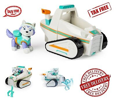Paw Patrol Everest's Rescue Snowmobile Kids Toy Vehicle and Figure