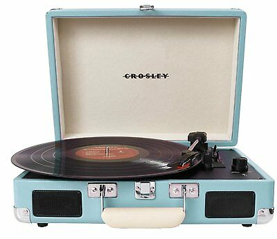Crosley CR8005A-TU Cruiser Portable 3 Speed Turntable Turquoise New